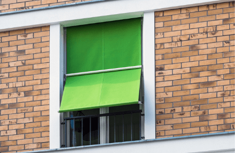 green blinds