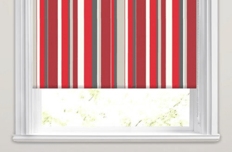 striped blinds